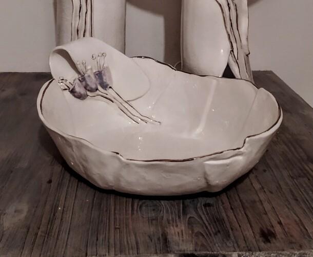 zdjela sa motivom cvijeta